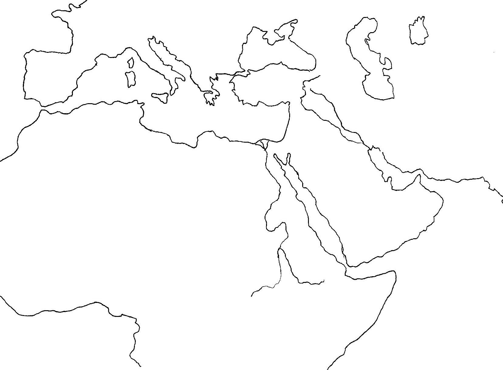 Blank Map Of Europe Asia And Africa | Map Of Africa