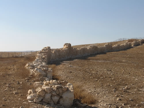 Arad Israel  City pictures : Here is the outer wall of the lower city
