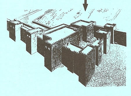 A diagram of Dan's gates from the University of Jerusalem College material.