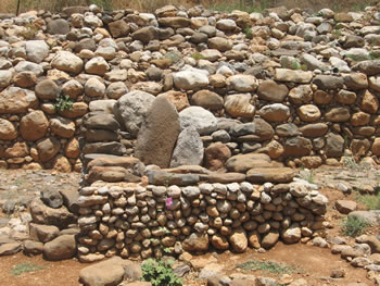 Three stones set up in the city gate served as a memorial or a place to worship deities as travelers arrived at to the city of Dan.