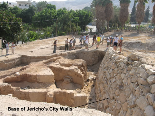 Image result for walls of jericho ancient pottery found