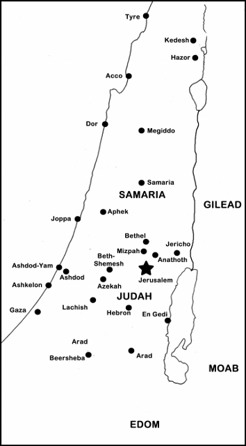 Jeremiah's Israel Map