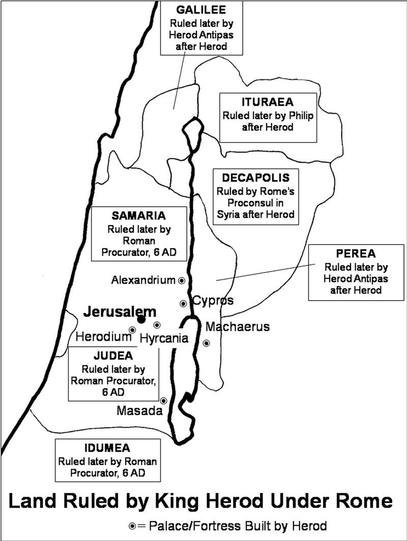 Jerusalem In Jesus Day Lands Of Herod The Great