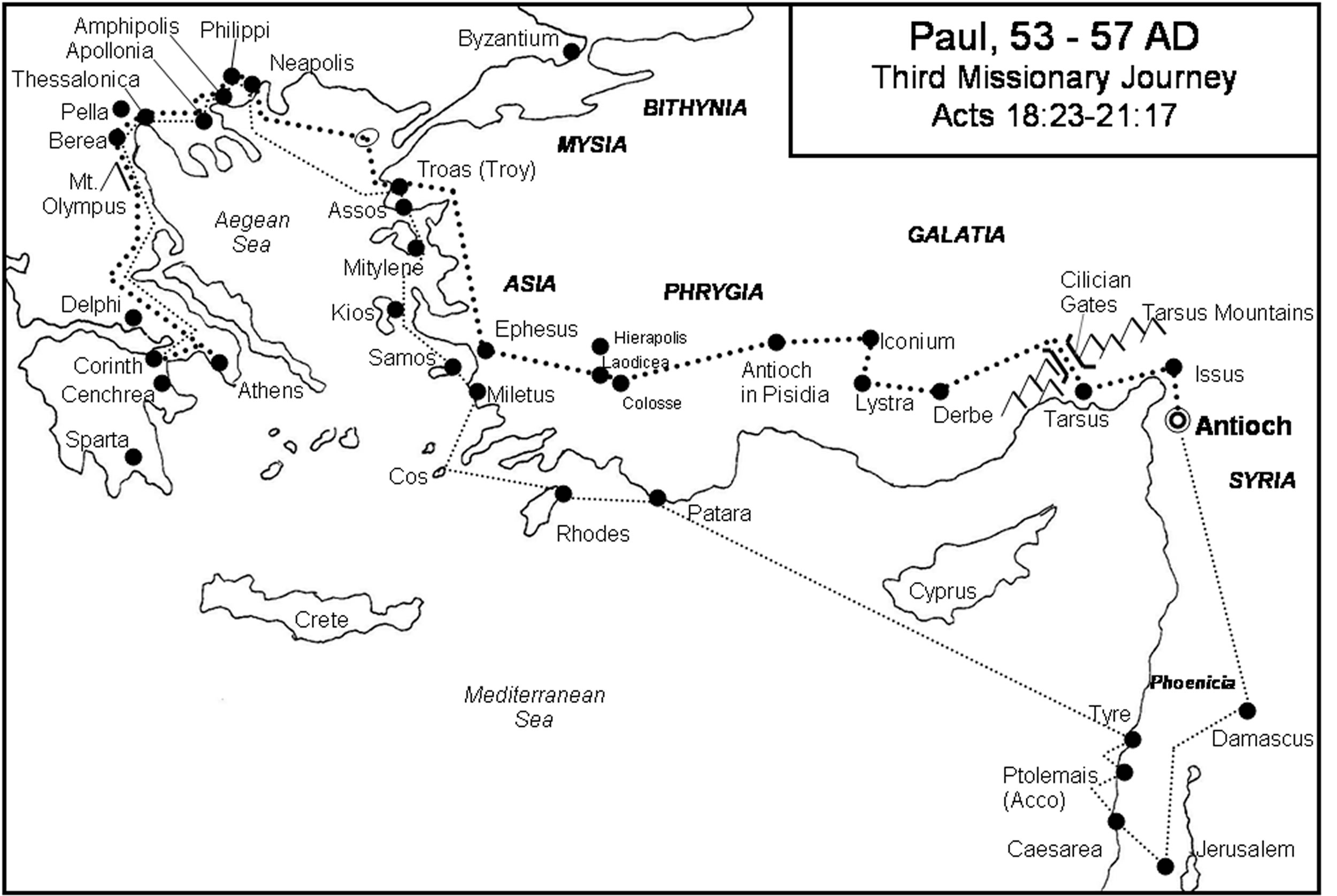 What were the different missionary journeys of Paul